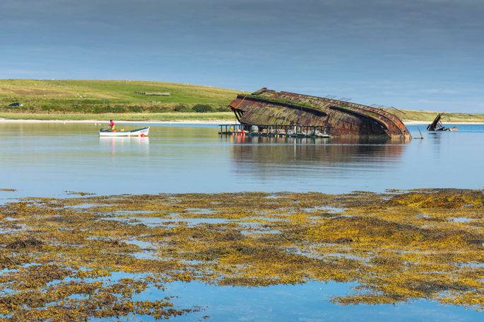 Shipwreck at Scapa Flow in Orkney