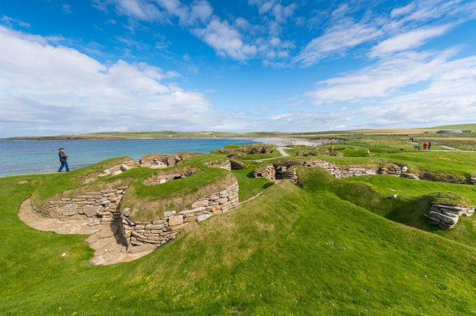The prehistoric village of Skara Brae, on Orkney.