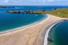Île de Saint-Ninian dans les Shetland