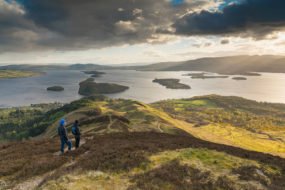 Walkers on Conic Hill